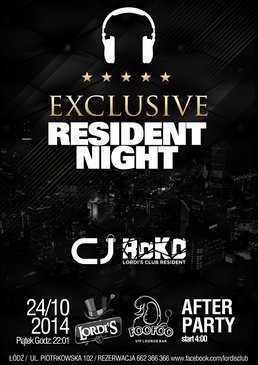 Exclusive Resident Night with ROKO and CJ