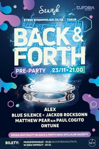 Back and Forth Pre Party bilety